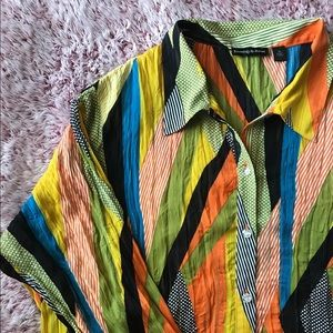 Essentials by Milano multicolor blouse